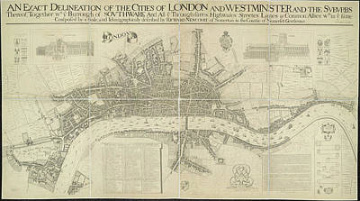 Cartography Photograph - Cities Of London And Westminster by British Library