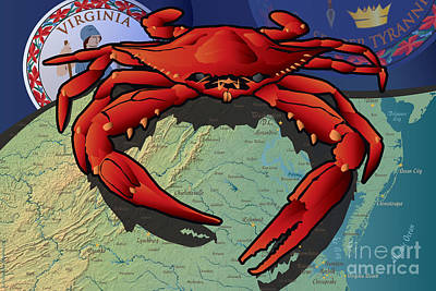 Citizen Crab Of Virginia Art Print