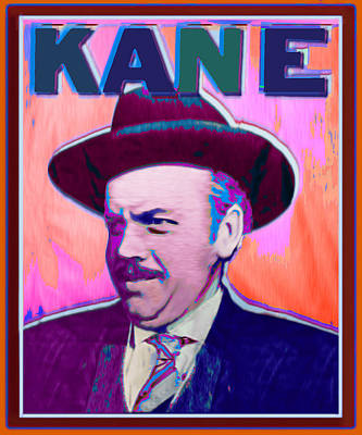 Citizen Kane Orson Welles Campaign Poster Color Original by Tony Rubino