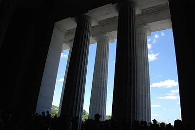 Photograph - Citizens And Columns In Silhouette by Kenny Glover