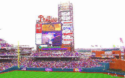 Citizen's Bank Park Art Print by Barbara Hammond