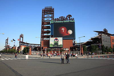 Mural Photograph - Citizens Bank Park - Philadelphia Phillies by Frank Romeo