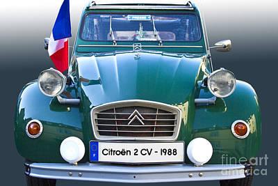 Citroen 2 Cv - France Art Print by Heiko Koehrer-Wagner