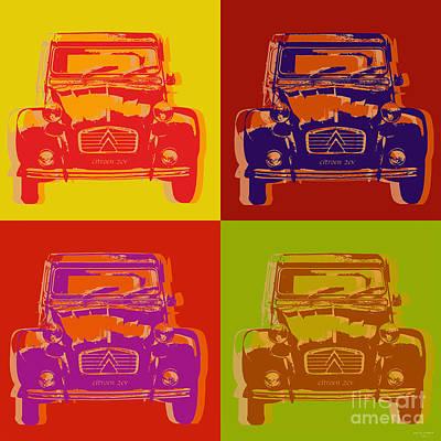 Citroen Digital Art - Citroen 2cv by Jean luc Comperat