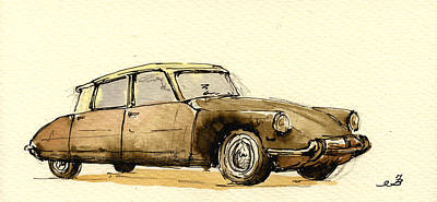 Classic Collection Painting - Citroen Cs by Juan  Bosco
