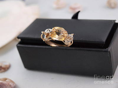 14k Photograph - Citron Gemstone Ring by Vivian Martin