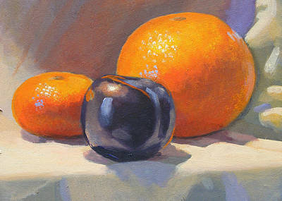 Painting - Citrus And Plum by Peter Orrock