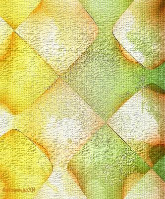Grapefruit Digital Art - Citrus Grunge by Mimulux patricia No