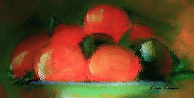 Painting - Citrus In Pottery Bowl by Lisa Kaiser