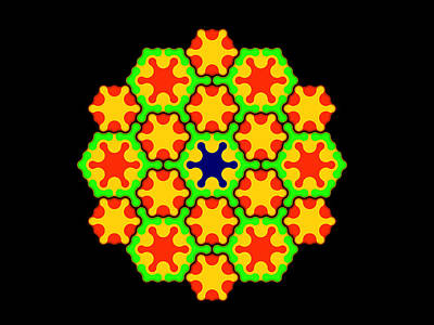 Algorithmic Digital Art - Citrus Mandala by Michael Connolly