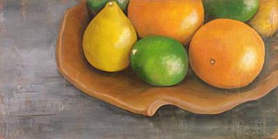 Citrus Pearls Art Print by Joy Petty