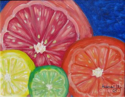 Painting - Citrus Slices by Laurie Morgan