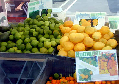 Grocery Stores Painting - Citrus Times by Elaine Plesser