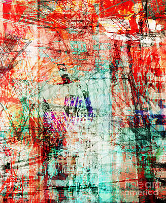 Telephone Poles Digital Art - City 3 by Brandon Lynch