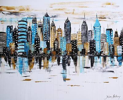Painting - City Abstract by Jolina Anthony