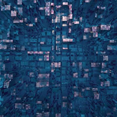 Art Print featuring the digital art City Abstract by Matt Lindley