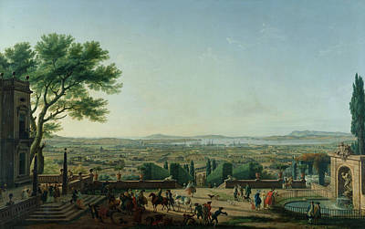 Daily Life Photograph - City And Port Of Toulon, 1756 Oil On Canvas by Claude Joseph Vernet
