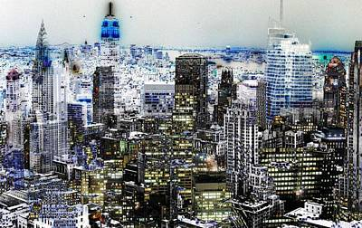 Digital Art - City Art New York by Mary Clanahan