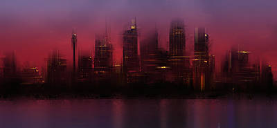Tower Digital Art - City-art Sydney Skyline by Melanie Viola