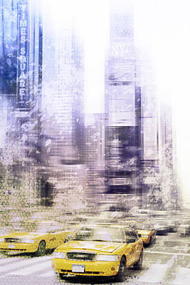 Abstract Digital Photograph - City-art Times Square I by Melanie Viola