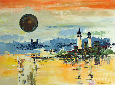 Prague Castle Painting - City by Artists Gallery