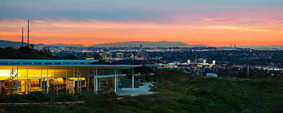 City At Dusk, Baldwin Hills Scenic Art Print by Panoramic Images