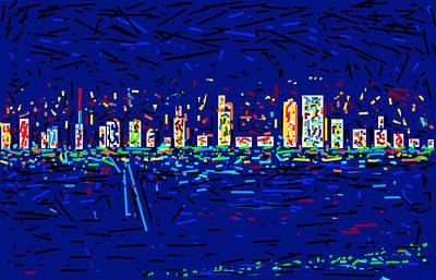City At Night Art Print by Anand Swaroop Manchiraju