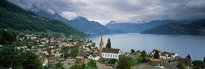 Lucerne Photograph - City At The Lakeside, Lake Lucerne by Panoramic Images