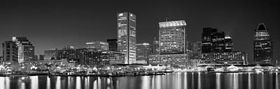 City At The Waterfront, Baltimore Art Print by Panoramic Images