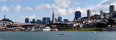 City At The Waterfront, Coit Tower Art Print by Panoramic Images