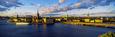 Gamla Stan Photograph - City At The Waterfront, Gamla Stan by Panoramic Images