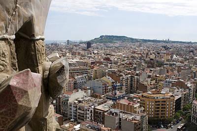 Photograph - City Beyond The Sagrada Familia by Lorraine Devon Wilke