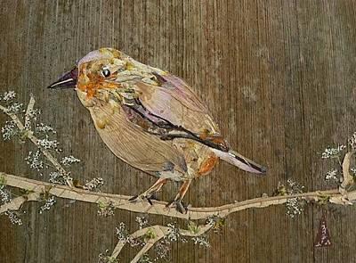 Sparrow Mixed Media - City Bird by Basant Soni
