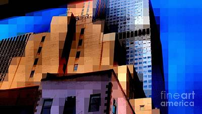 Photograph - City Blocks - Building Blocks - Architecture Of New York City by Miriam Danar