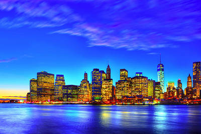 Dumbo Photograph - City Blue by Midori Chan