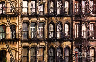 Brownstones Photograph - City Brownstones by Diane Diederich