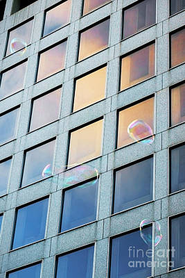 Photograph - City Bubbles by Ellen Cotton