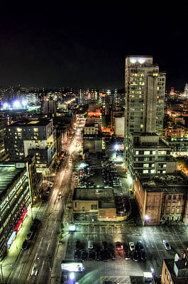 Photograph - City By Night by Ross G Strachan