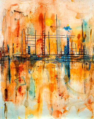 Painting - City By The Sea IIi by Giorgio Tuscani