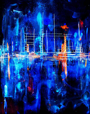 Painting - City By The Sea Iv by Giorgio Tuscani