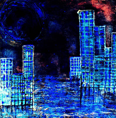 Digital Art - City By The Sea Of Love II by Giorgio Tuscani