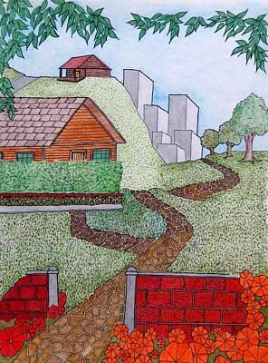 City Cabin Art Print