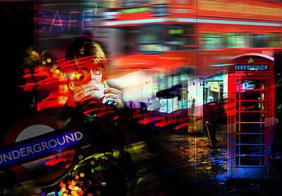 London City Cafe Culture Art Print by Mal Bray