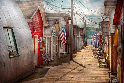 Pier Houses Photograph - City - Canandaigua Ny - Shanty Town  by Mike Savad