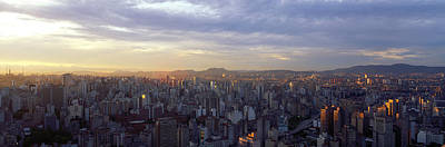 Sao Photograph - City Center, Buildings, City Scene, Sao by Panoramic Images