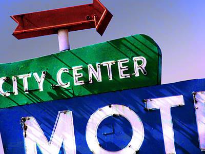 Photograph - City Center Motel by Gail Lawnicki