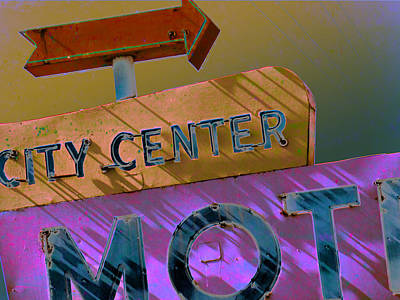 Photograph - City Center Motel Sepia Variation by Gail Lawnicki