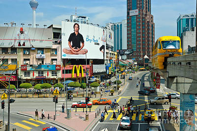 Photograph - City Centre Scene - Kuala Lumpur - Malaysia by David Hill