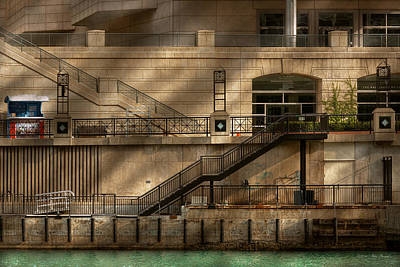 Photograph - City - Chicago Il - Ups And Downs by Mike Savad
