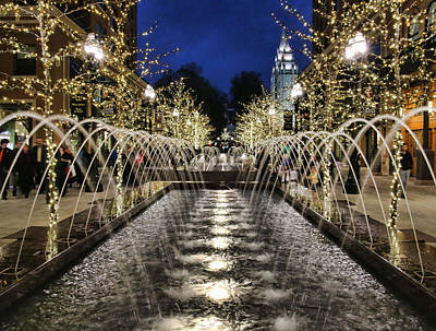 Photograph - City Creek Fountain - 2 by Ely Arsha